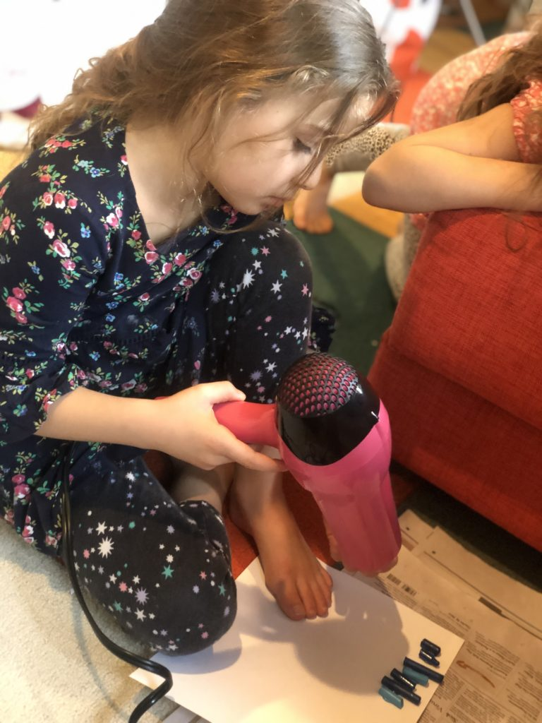 Zoe melting crayons