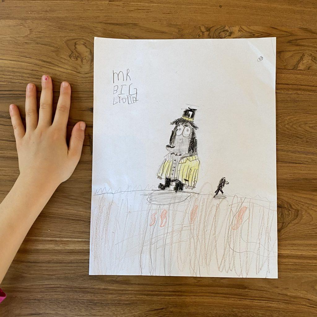 Lydia's Mr. Big gorilla art