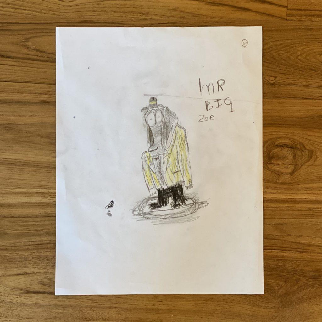Zoe's Mr. Big Gorilla Art