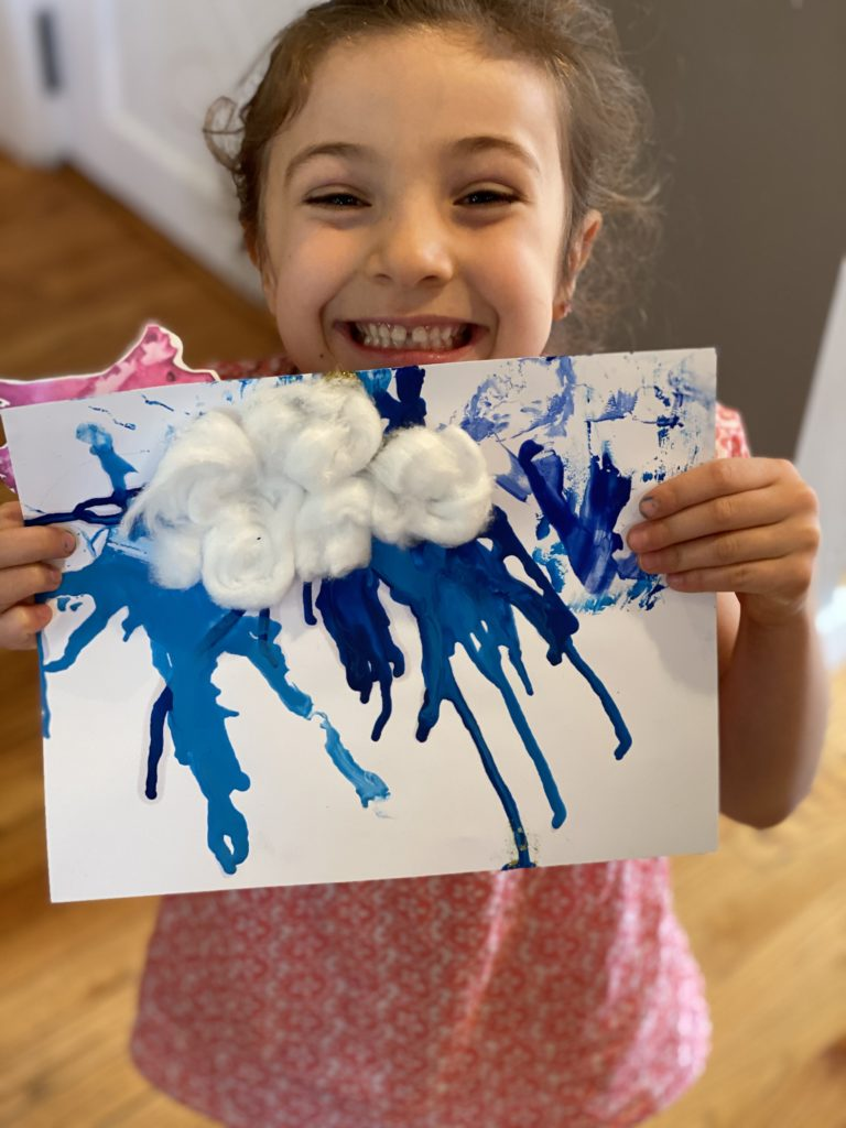 Lydia and her melted crayon rain cloud