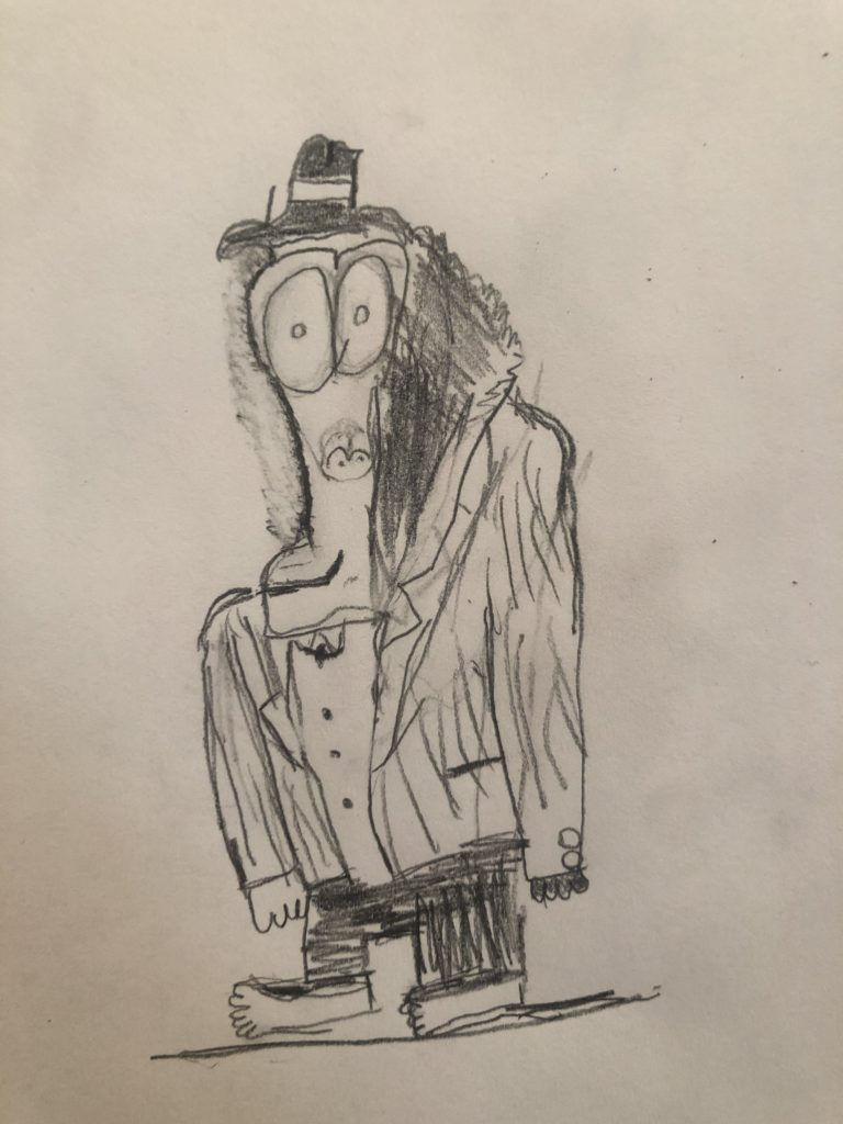 Zoe's Mr. Big drawing
