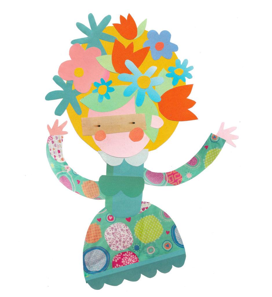 Flower girl collage