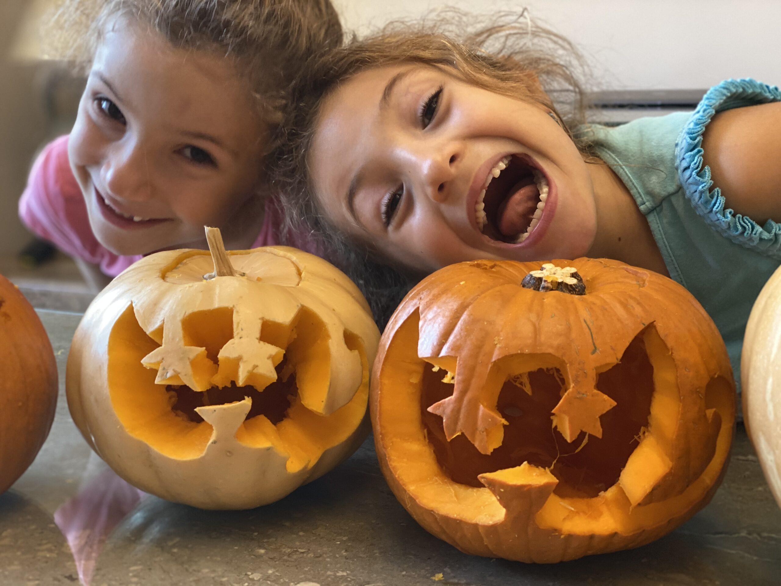 Merkitty carved pumpkins